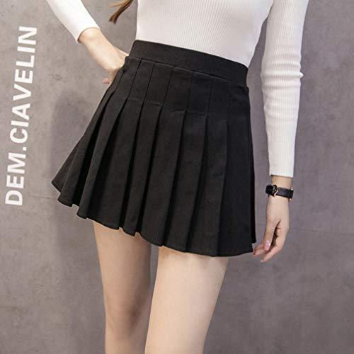 Plissée Tennis Patineuse Taille Noir Haute Filles Ecole Femme Jupe Mxssi yvgIYb76f