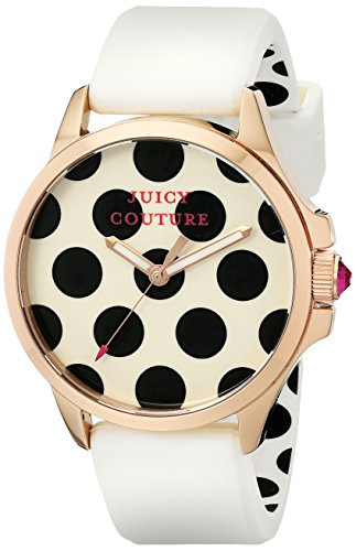 Juicy Couture Women's White RoseGold Silicone Strap Watch - 3