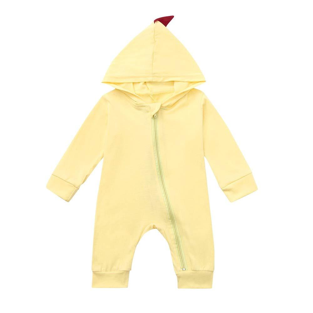 Cinnamou Ropa de una Pieza para bebés Disfraces Traje Dinosaurio Animales Romper Jumpsuit Sudadera con Capucha para Niñas niños Dormir
