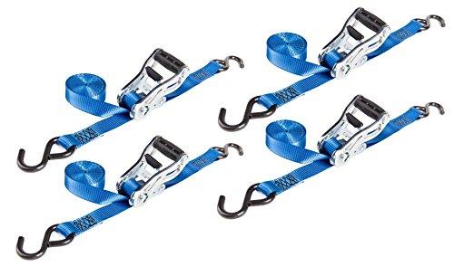 REESE Secure 9482800 Ratchet Tie Down, Grip Handle, 10-Foot Webbing (4 Pack)