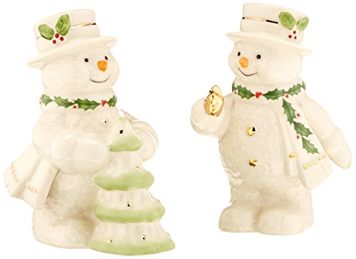 (Lenox Happy Holly Days Decorate The Tree Snowman Salt & Pepper Shakers)