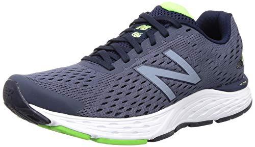 New Balance Men's 680v6 Cushioning Running Shoe, Pigment/RGB Green, 11 D US