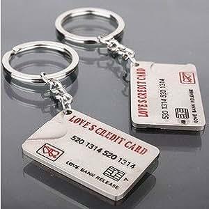 Couple Keychain Metal Boy Girl Sweet Key Chain Ring Key Ring Chain (3)