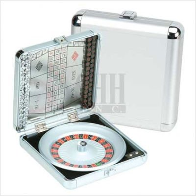 Aluminum Miniature Roulette Set