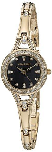 Armitron Women's Quartz Metal and Alloy Dress Watch, Color:Gold-Toned (Model: 75/5399BKGP)