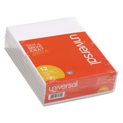 Universal Products - Universal - Scratch Pads, Unruled, 4 x 6, White, 100-Sheet Pads, 12 pack - Sold As 1 Pack - Great for the home or office-anywhere you need to jot down a note. - Basic plain white paper, gummed top. - by Universal
