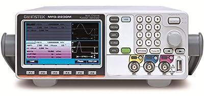 GW Instek MFG-2230M MFG-2000 Multi-Channel Arbitrary Function Generator with Pulse Generator, 30 MHz, Dual Channel