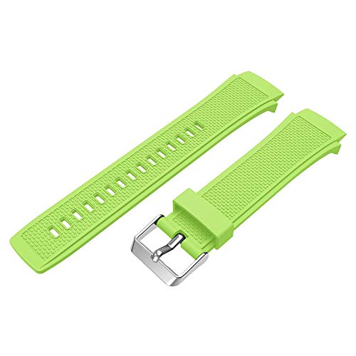 Hongxin for Huawei Watch 2,Soft Silicone Watch Band Bracelet Wrist Strap Replacement for Huawei Watch 2,8.66'',Suitable for Wrist 5.51-8.46'' (Green)