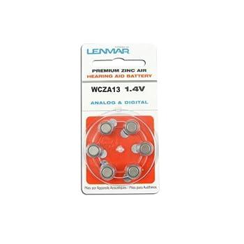 Lenmar WCZA13 ZA13 Zinc-Air Hearing Aid Battery