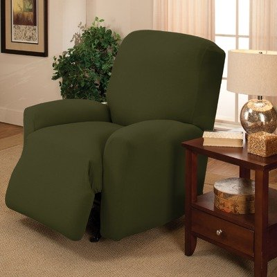 Stretch Jersey Large Recliner Slipcover Color: Forest by Madison Home (Image #1)