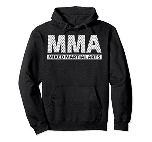 Unisex MMA HOODIE, MIXED MARTIAL ARTS HOODIE, MMA PULLOVER HOODIE XL: Black