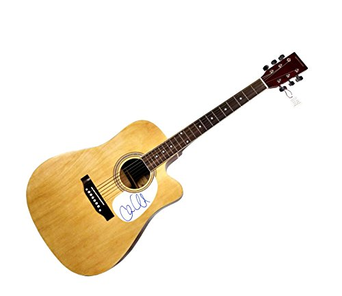 Chase Crawford Autographed Signed Natural Acoustic Guitar AFTAL UACC RD COA (Crawford Natural)