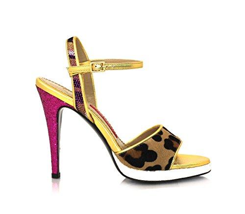 Open Delle Talloni Del 9 Oro Centimetri Sandali Donne Diamante Rosa Toe Leopardato E Con Sandali Rosa Tacco wr6Ewqd4