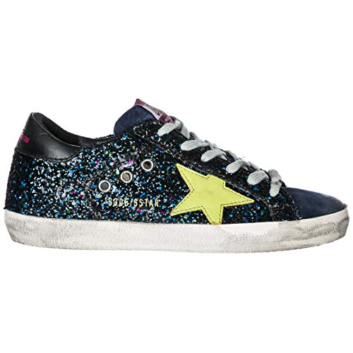 Green Donna Golden da Scarpe Goose Disco Glitter in pelle Blu Star Sneakers ginnastica Superstar gqgR7Xx6