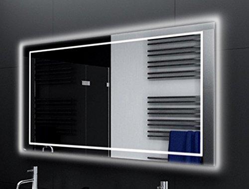 Badspiegel Designo MA4114 mit A++ LED Beleuchtung - (B) 80 cm x (H) 60 cm - Made in Germany - Technik 2019 Badezimmerspiegel Wandspiegel Lichtspiegel TIEFPREIS rundherum beleuchtet Bad Licht Spiegel
