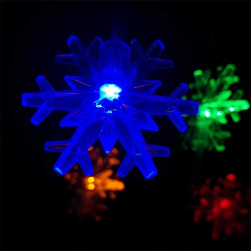 BGFHDSD 3M 30LED Christmas Lights Snowflake Lamp Holiday Lighting Indoor Wedding Party Decoration Curtain String Lights Navidad Purple by BGFHDSD