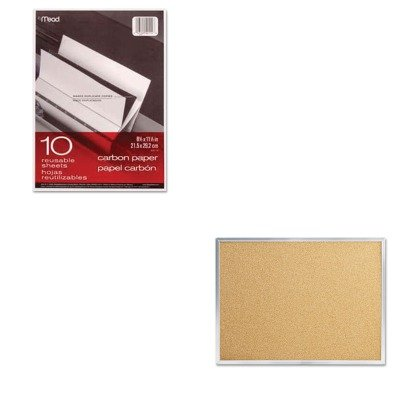 KITMEA40114MEA85360 - Value Kit - Quartet Cork Bulletin Board (MEA85360) and Mead Black Carbon Mill Finish Paper (MEA40114) by Quartet