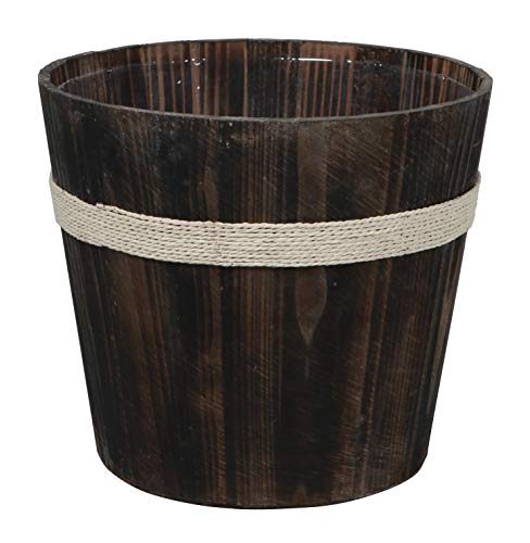 Well Wishing Bucket (Cheung's FP-4194BR Brown Wooden Round Bucket)