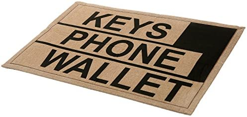 MyGift 2 x 3 ft Brown Polyester Keys Phone Wallet Funny Reminder Doormat Novelty Non-Slip Floor Mat