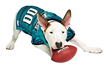 Nfl Pet Jersey. - Football Licensed Dog Jersey. - 32 Nfl Teams Available. - Comes In 6 Sizes. - Football Pet Jersey. - Sports Mesh Jersey. - Dog Jersey Outfit. - Nfl Dog Jersey 5