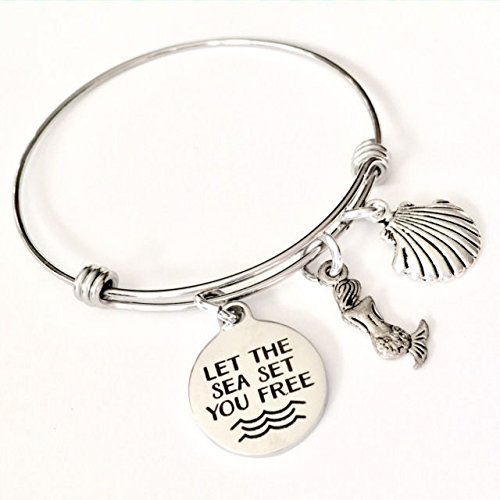 Let the Sea Set You Free, Beach Mermaid Bangle Bracelet (Make A Wish Costumes)
