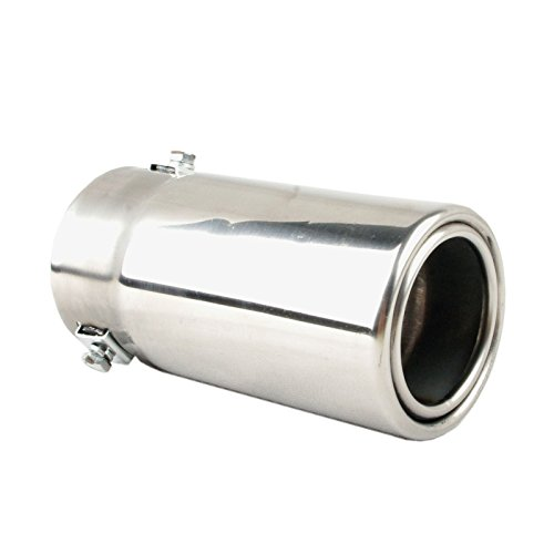 Car Muffler Tip - Stainless Steel to give Chrome Effect - to Fit 1.25 to 2.5 inch Exhaust Pipe Diameter - Installation Clamps Included by TriTrust