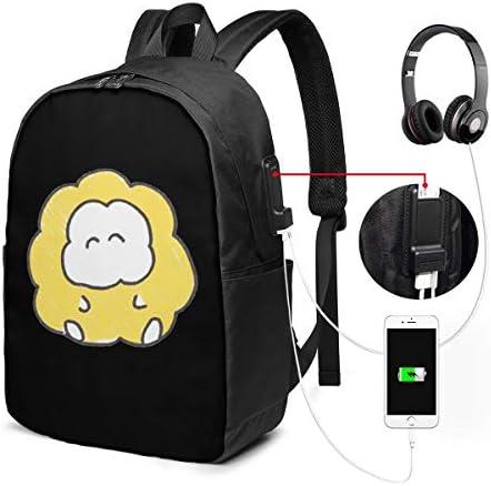 ビジネスリュック ともくもくちゃん メンズバックパック 手提げ リュック バックパックリュック 通勤 出張 大容量 イヤホンポート USB充電ポート付き 防水 PC収納 通勤 出張 旅行 通学 男女兼用