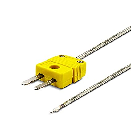 PerfectPrime TL0225 Temperature Range up to 200 /°C// 392/°F Surface Contact,0.25 mm diamater K-Type Sensor Probe with Sticker for K-Type Thermocouple Thermoemter//Meter