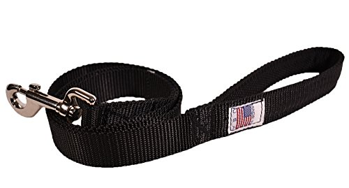 Price comparison product image Blue Stone Law Enforcement Dog Leash with Foam Grip Handle - Made in the USA, Black, 3 Foot