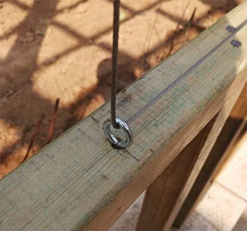 Favson ganchos para colgar rosca de acero inoxidable de 1,37 pulgadas peque/ños tornillos para ojos. ganchos para ojos ojales