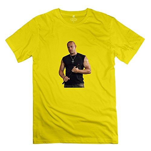 Boy Vin Diesel Personalized Cool Yellow T Shirt By Mjensen