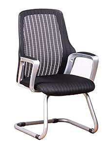Amazon Com Office Factor Ergonomic Mesh Guest Chair Side