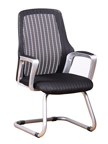 Office Factor Ergonomic Mesh Guest Chair Side Visitors Waiting Room Reception Sled Base Office Chair