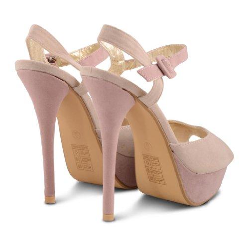 Sensation Ice vestir de sintético Footwear rosa mujer de para Sandalias TzH4d