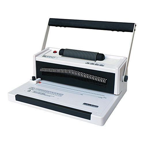 TruBind Coil-Binding Machine With Electric Coil Inserter TB-S20A Professionally Bind Books and Documents Office or Home Use Adjustable Hole-Punching and Paper-Size Settings 2-Year Factory Warranty (Binding Coil Spiral Machine)