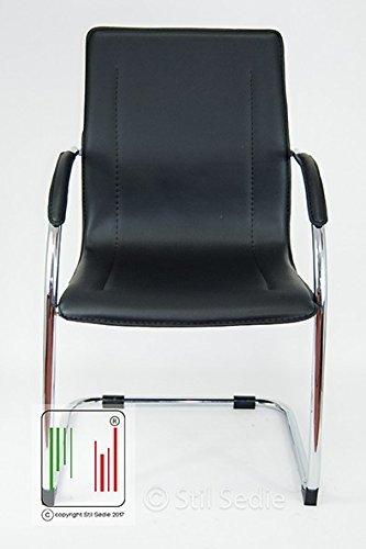 Stil sedie poltrona sedia ufficio su slitta modello for Sedie ufficio milano