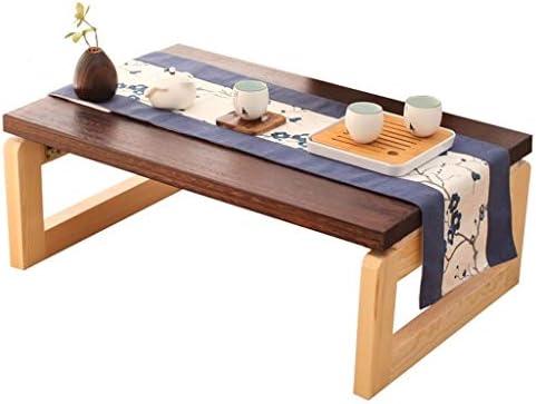 Salontafel, klaptafel, opvouwbaar, massief houten tafel, eenvoudige theetafel