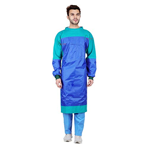 Proexamine Surgicals® Cotton Reusable Surgeon Gown with IMPERVIOUS Material and with Set of Face Mask and Cap (1) Price & Reviews