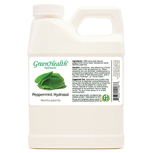 (Peppermint Hydrosol (Floral Water!!!) - 16 fl oz Plastic Jug w/Cap - 100% pure, (NOT OIL!!))