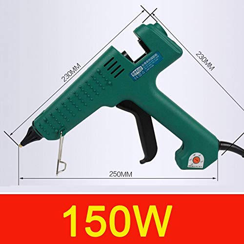 Hot Glue Gun 25W/60W/100W/150W Hot Melt Glue Gun Professional Pistolet a Colle Mini for Metal/Wood Working Stick Paper Hairpin PU Flower (150W)