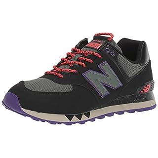 New Balance Men's 574 V2 Sneaker, Black/Slate Green, 18 W US