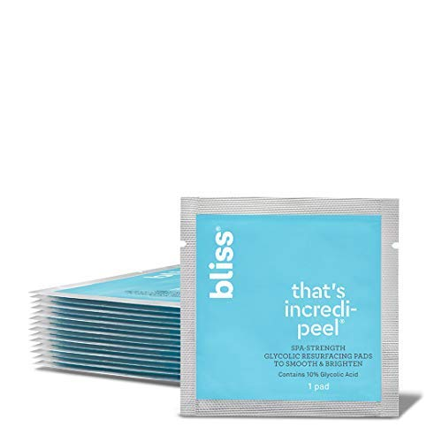 Bliss - That's Incredi-peel Glycolic Resurfacing Pads | Single-Step Pads for Exfoliating & Brightening | Vegan | 15 ct. (Best Glycolic Peel Pads)