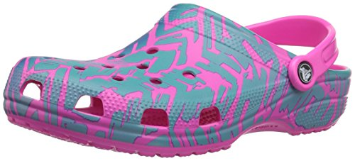 Crocs Neon Unisex Graphic Classic Turquoise Clog II Pink fO8frU16