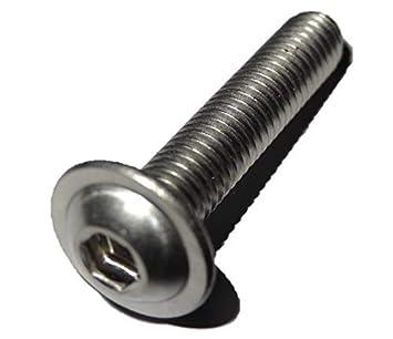 Linsenflanschkopfschrauben 10, M4x30 mm V2A Innensechskant A2 Edelstahl ISO 7380//2 10 St/ück Linsenkopf Schrauben mit Flansch M4x30 mm
