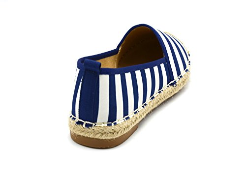 Oh My Shop Women's Espadrille Flats Blue UgFFXatmh
