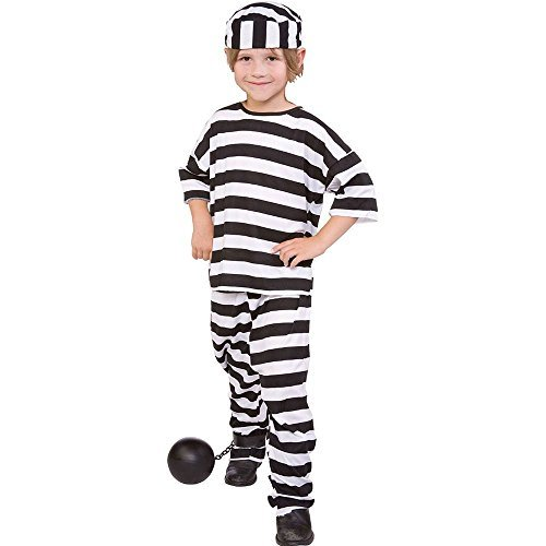 Convict Boy Costume, Boys Medium(8-10) ()