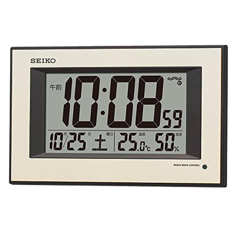 SEIKO 자동 점등 디지털 벽시계 SQ438G