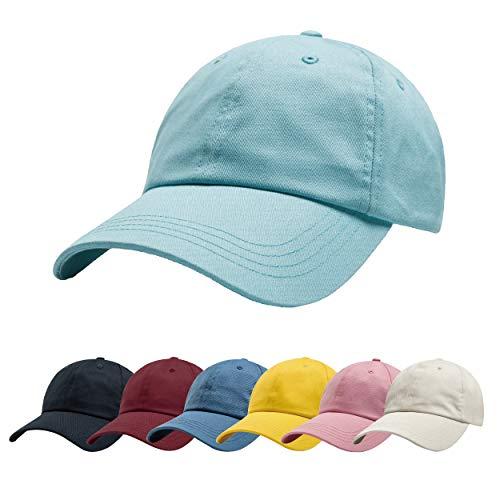 ZOWYA Classic Cotton Plain Baseball Cap-Dad Hat-Polo Cap-Casual Cap-Unisex-Adjustable Size-Unstructured-Soft Angel Blue