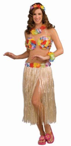 Forum Novelties Hawaiian Hula Girl Dancer 3-Piece Costume Kit - Hula Costumes Halloween