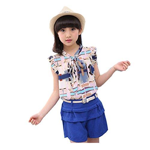 ftsucq-girls-tie-sleeveless-graffiti-top-shirt-with-shorts-two-pieces-setsblue-130